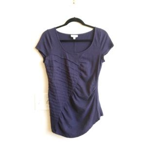 Anthropologie Deletta Ruched Sweetheart Top M